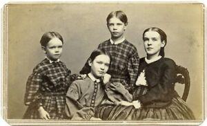 Wonderful CDV of Four Kiddos by Alexander Hesler of Chicago, Illinois