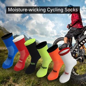 Cycling Socks Moisture-wicking Bike Socks Men Women Sports Running Gym A1J9