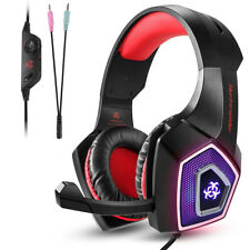 Gaming Headset+Mic Over Ear Headphones Stereo Bass Surround For PS4 Xbox One PC