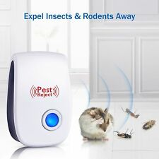 2018 ELECTRONIC ULTRASONIC PEST REPELLER CONTROL RAT COCKROACH ANT FLY FLEA USA