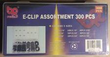 "300pc Assorted E-Clip eclip Assortment 1/16"" - 7/8"""