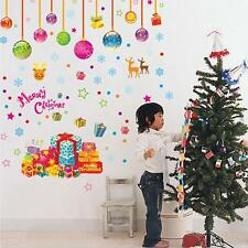 Removable Merry Christmas Holiday Party Wall Stickers Window Vinyl Decorations B