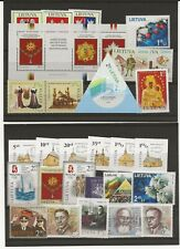 More details for lithuania 2008 two miniaturte sheets, and 27 stamps  all mnh