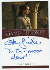 Rare VHTF Game of Thrones Complete Autograph Inscription card by Kate Dickie