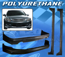FOR HONDA ACCORD 08-10 4DR T-M STYLE FRONT REAR BUMPER LIP SIDE SKIRTS BODY KIT