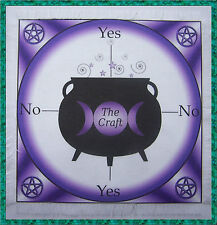 Purple Cauldron Scrying Mat for use with a pendulum, Wicca, divination, gift