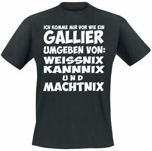 Gallier  Männer T-Shirt schwarz   Funartikel, Sprüche