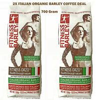 2X Italian Organic FITNESS BARLEY® Caffeine Free 4 Nutrient Herbs Spices Coffee