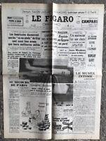 N126 La Une Du Journal Le Figaro 4 Mars 1968