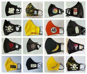 Pop Art Street Skate Fashion Face Mask Multilayered Nano-Polyester UK Choose
