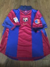 Nike FC Barcelona 2000-2001 Includes Centenary Patch Football Shirt Size Large