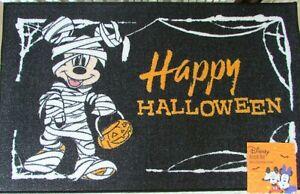 "Disney Halloween Accent Rug Mickey Mouse 20"" x 32"" Mummy Happy Halloween NWT"