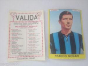 FIGURINA CALCIATORI PANINI 1966 / 67 - ATALANTA-FRANCO NODARI-NUOVA-VALIDA