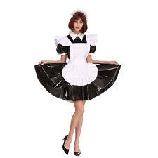 Sissy Maid Lockable Black PVC Dress Crossdressing For Men Plus Size Costume