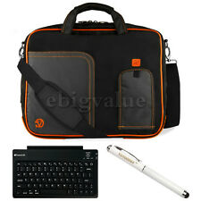 For Samsung Galaxy Tab S2 Orange Briefcase Bag Case + Bluetooth Keyboard +Stylus