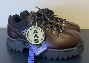 New W/tags Vintage 90s Skechers Metros Jammers Brown Boots Shoes  W 8.5 - M 6