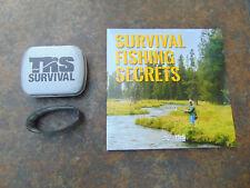 Survival fishing tin with Survival fishing DVD + bonus stainless survival tool