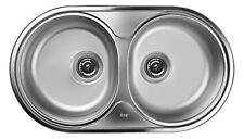 Grey TEKA cucina Lavandino Lavello/bacino lavello da incasso in acciaio (2pm)