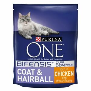 Purina ONE Coat and Hairball Chicken & Whole Grains Dry Food For Cats*3KG PACK*