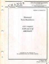 A-1H & A-1J Parts Catalog Flight Manual Pilot's Handbook -CD Version-