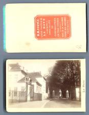 M. M. Couvée, Pays-Bas, La Haye La route de Scheveningen CDV vintage albumen car