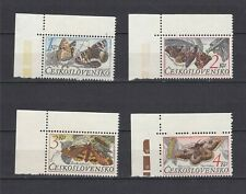 TIMBRE STAMP 4 TCHECOSLOVAQUIE Y&T2714-17 PAPILLON BUTTERFLY NEUF**/MNH-MINT~D69