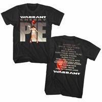 Warrant Cherry Pie Album Cover Art Waitress Men's T Shirt Rock Band Tour Merch