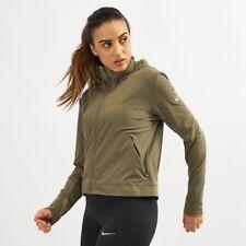WOMENS NIKE FLEX SWIFT RUNNING JACKET SIZE M (AA7966 222) GREEN