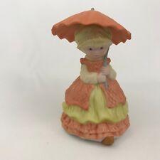 Heartline Megan and Friends Porcelain Girl in Peach w/ Umbrella April Spring
