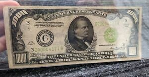1934 PHILADELPHIA $1000 ONE THOUSAND DOLLAR BILL Low Serial Number C00004177A