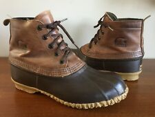 Sorel Duck Hunting Snow Boots Mens 10 Rubber Leather Lace Up Hand Made In Canada