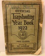 1922 Official Trapshooting Year Book American Trap Shooting Association Photos