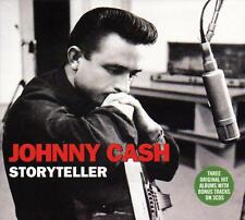 JOHNNY CASH - STORYTELLER - 3 ORIGINAL ALBUMS WITH BONUS TRACKS (NEW SEALED 3CD)
