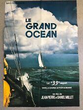 LE GRAND OCÉAN Affiche film 120x80 DANIEL MILLET, JEAN-PIERRE MILLET