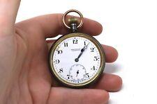 Key Wind Running Pocket Watch #32290 A Vintage Gents Gunmetal H. Hallpike Ltd