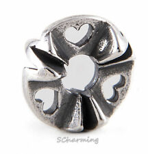 Authentic Trollbeads Silver bead Heart Rhythm Wave TAGBE-10162