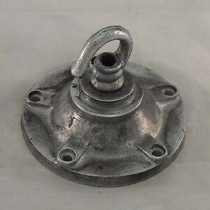 Large Vintage Industrial Cast Metal Ceiling Light Hook