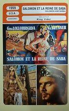 US Movie Solomon and Sheba Gina Lollobrigida Yul Brynner French Film Trade Card