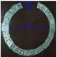RS17# Rosette Inlay Paua Abalone & White Mother of Pearl 1.5mm thickness