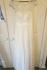 Paddington weddings Bertossi sweetheart chiffon lace wedding dress size 12-14