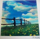 """DAVID NAJAR """"FENCE LINE"""" Signed Seriolithograph with COA, PARK WEST, EXCELLENT!!"""