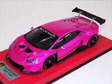 1/18 Looksmart MR Lamborghini Huracan S. Trofeo Pink Flash black wheels Leather