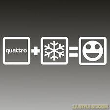 Quattro Schnee Aufkleber Fun i love my Quattro allrad Winteraufkleber