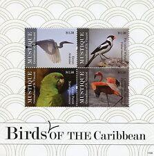 Mustique Grenadines St Vincent 2011 MNH Birds of Caribbean 4v MS I Parrot Whydah