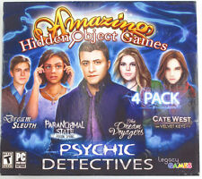 Psychic Detectives Amazing Hidden Object Games 4 Pack (Dream Sleuth/Cate West...