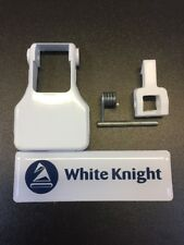 GENUINE WHITE KNIGHT TUMBLE DRYER DOOR CATCH & HANDLE KIT - 4213 092 71831