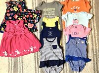 Baby Girl 3/6 - 6 & 9 Months Clothing Lot Outfit Sets Dresses And Tops