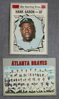 Hank Aaron MVP HOF (2) 1970 Topps Sporting News & Atlanta Braves Team #462  #472