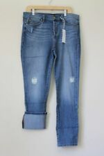 new ANTROPOLOGIE WOM LEVEL 99 MORGAN sz 29 SLOUCHY STRAIGHT JEANS DISTRESSED