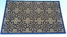 "Flower Pattern Coir Door Mat 30"" x 48 """